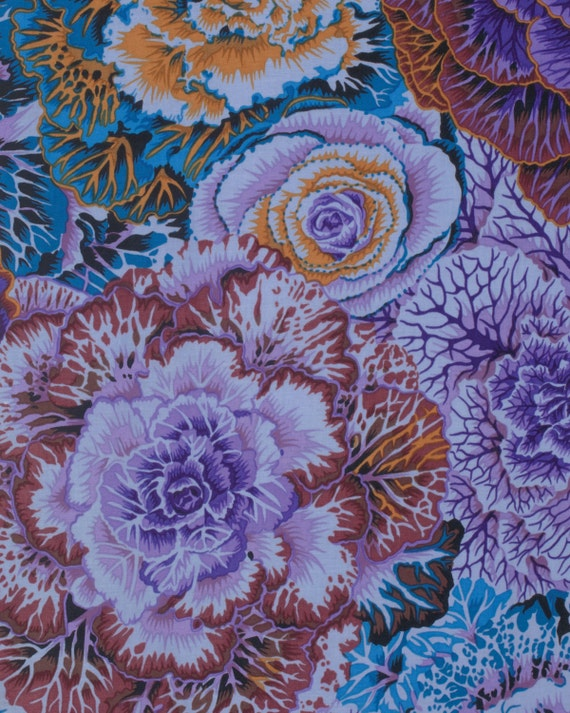 BRASSICA DARK Fall 2015 Philip Jacobs for Kaffe Fassett Collective Sold in 1/2 yd increments