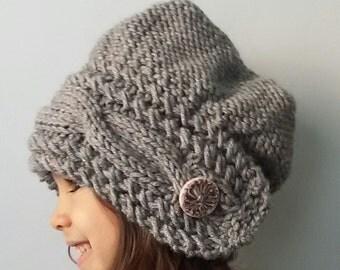 Hand knit, knitted hat,  knit, Knit Kids Hat, knit hat, Winter Hats
