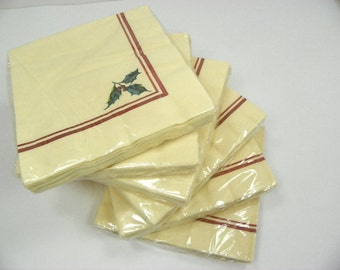 Lenox Winter Greetings Paper Napkins Set of 2 Packages New Old Stock