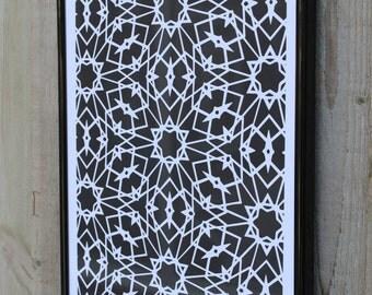 Geometric Kaleidoscope Art Print - 2 Variations