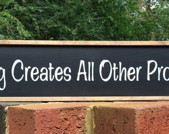 "Teaching Gift. Gift for Teacher. Teacher Sign!  ""Teaching Creates All Other Professions"".  Great for a classroom, office, or gift idea!"