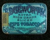 Vintage Edgeworth Pipe Tobacco Tin, 1950s, Tobacciana, Mid Century Tobacco Container, Edgeworth Tobacco Tin, Vintage Tobacco Tin