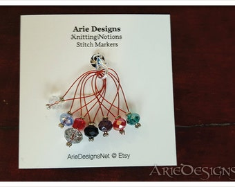 Stitch Markers - Red