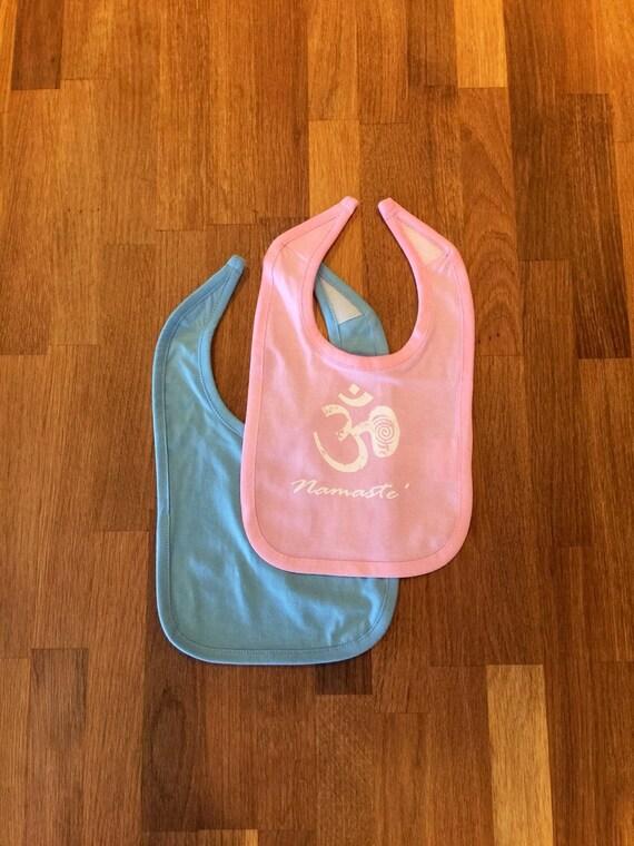 Baby Gifts Yoga : New namaste bib baby om yoga yogini gift