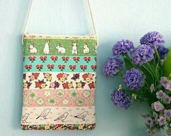 Rabbit Zipper Sling Pouch, Flower zipper sling pouch, Bird zipper sling pouch