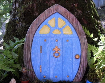 Large fairy door fairy garden set gnome door elf door for Large gnome doors