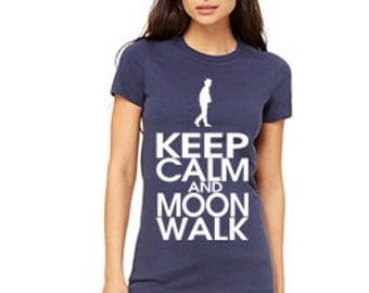 Keep Calm and Moonwalk Custom Favorite Tee - 6004