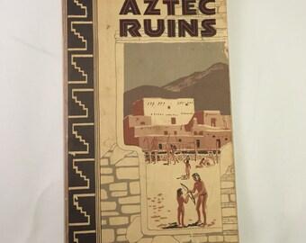 1962 Aztec Ruins guide book.  RARE!