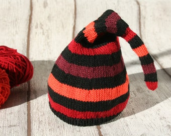 Striped baby cap knitted newborn hat baby girl striped hat cap newborn