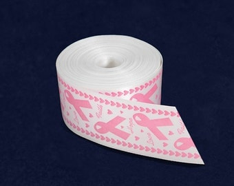 Satin Pink Ribbon By The Yard (10 Yards)  (RIB-01)