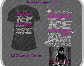 Sweet As Sugar Rhinestone Bling Shirt