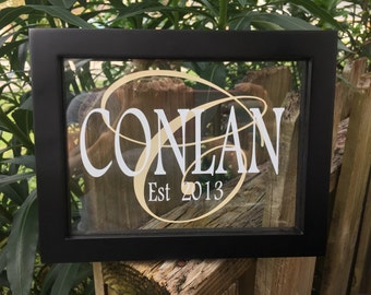 Family Name in 6 x 8 Frame