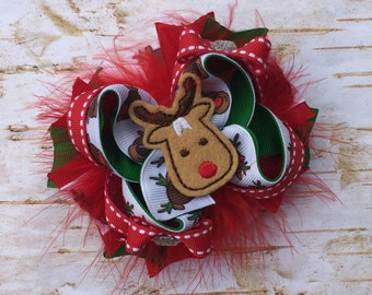 Rudolph Fluffy Bow