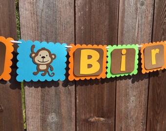 Zoo Theme Birthday Banner