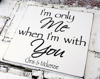 Romantic quote sign, bedroom art, gift, wedding signs,anniversary gift, boyfriend girlfriend husband wife gift