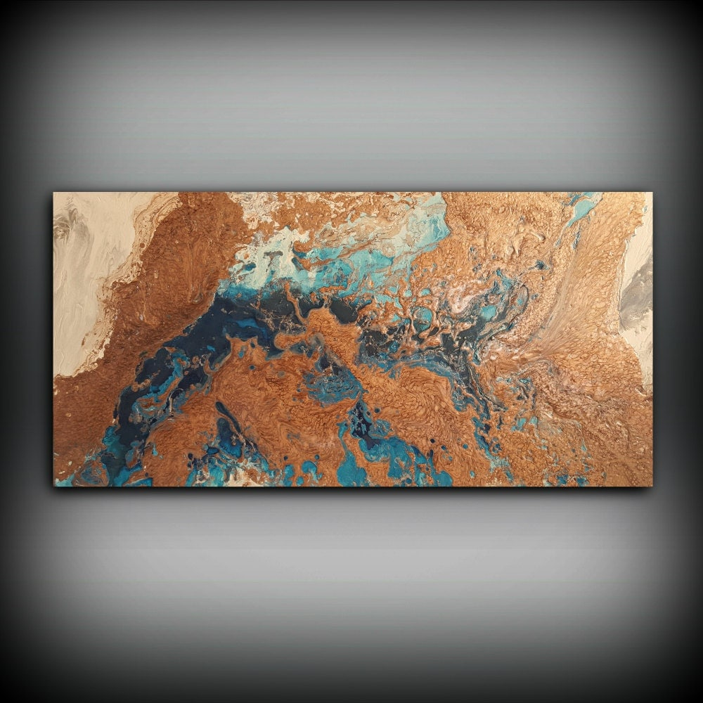 Original painting art painting acrylic painting abstract for Copper wall art