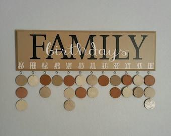Family Birthday Calendar, Family Birthdays, Birthday Board