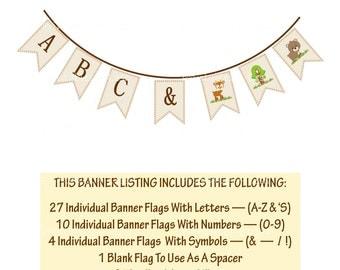Woodland Baby Shower Banner, Woodland Animal Banner, Woodland Banner, Printable Woodland Baby Banner, Forest Banner - Printables 4 Less 0087