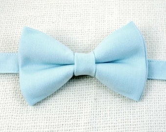 B112 Baby Blue bow tie /For baby/Toddler/Teen/Adult/with Adjust strap/Clip on