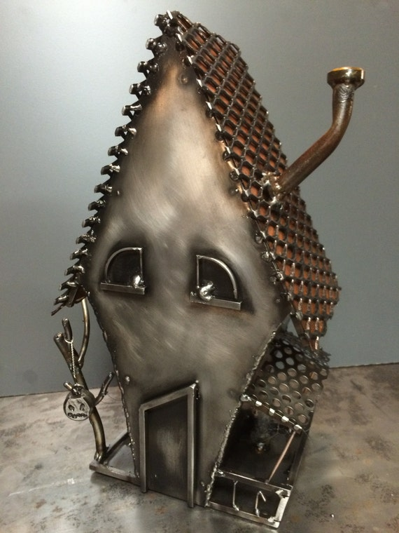 creepy halloween house steampunk decor - Metal Halloween Decorations