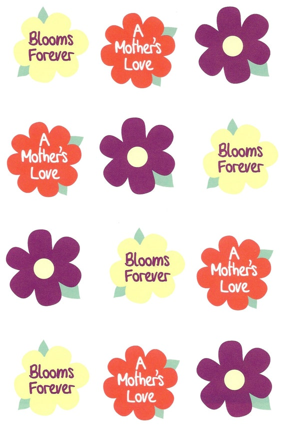 Happy Mother's Day Flowers - Edible Cake and Cupcake Topper For Birthday's and Parties! - D914