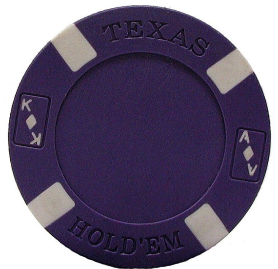 Casino Dark Blue Poker Chip Birthday - Edible Cake and Cupcake Topper For Birthday's and Parties! - D7327