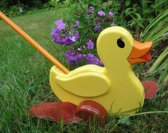 "Happy Flappy ""Rubber"" Ducky Push Toy"