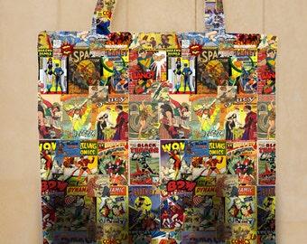 Golden age comics book tote bag