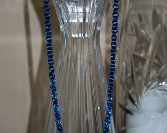 Blue Tri-shade Chainmail Necklace