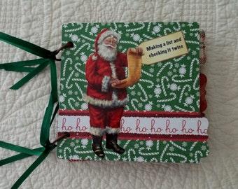 Christmas Scrapbook Album 6x6 Handmade in USA