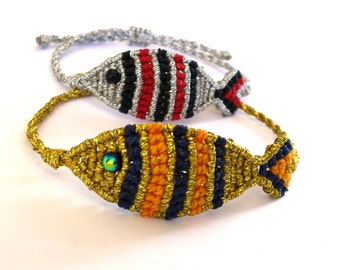 Macrame Fish Bracelet/ Friendship Bracelet