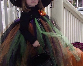 Halloween dress and witch hat combo