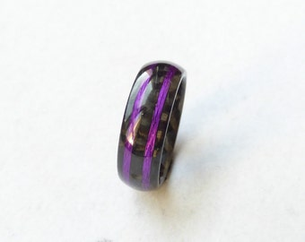 carbon fiber & purple ring