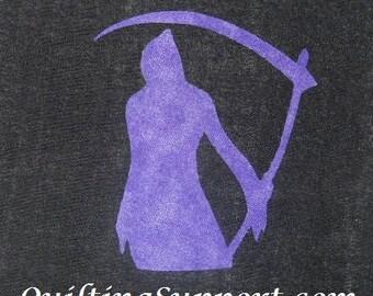 Grim Reaper Quilt Applique Pattern Design PDF