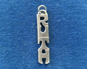 Vintage Sterling Leonore Doskow Name Pendant for Ruth