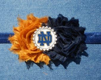 Notre Dame Headband, Notre Dame Hair Clip, Notre Dame, University of Notre Dame