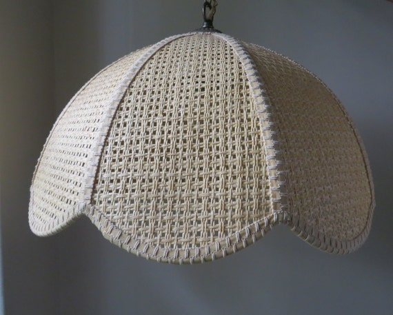 Vintage Woven Pendant Dome Hanging Light Ceiling Light