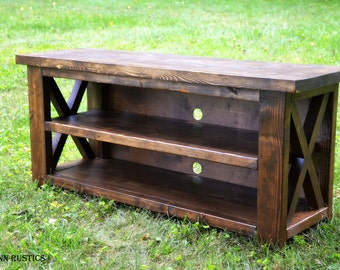 Rustic X Entertainment Console Table