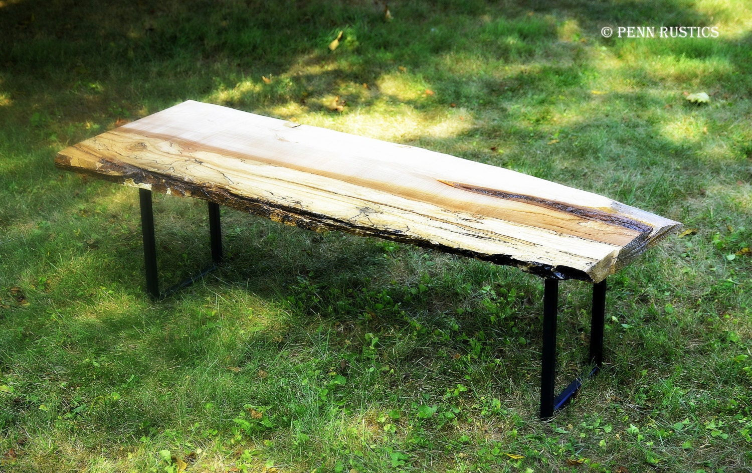 Industrial Rustic Live Edge Bench By Pennrustics On Etsy