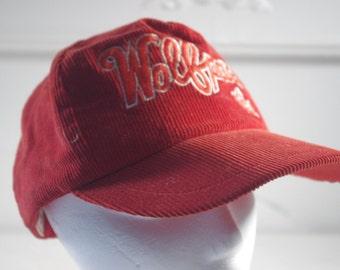 vintage Wolf Pack hat corduroy