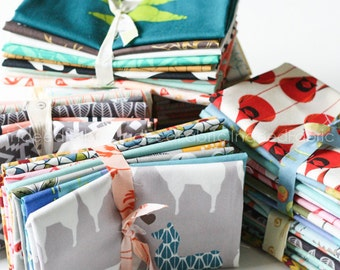 Mystery Fat Eighth Bundle- Designer Fabric Stash Builder, Quilting Weight Cotton, Ten Fat Eighths