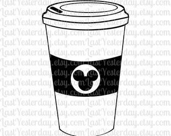 Mickey Coffee Cup DIGITAL DOWNLOAD svg dxf jpg png