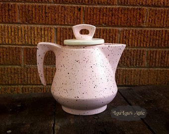 50s Pink and Black Teapot