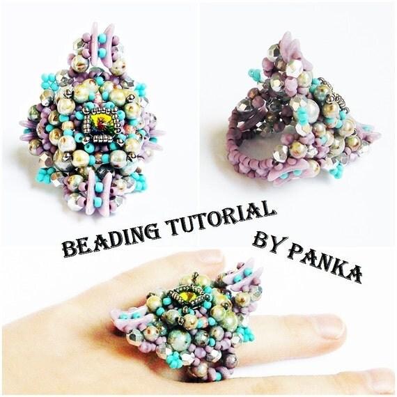 Beading Ring Tutorial Beading Pattern How Make To