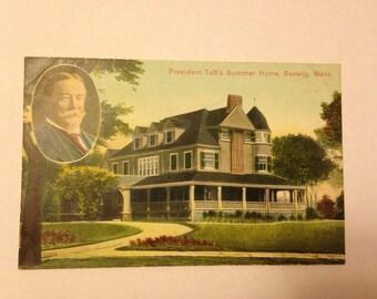 Old Postcard President Taft 1909 Beverly Mass