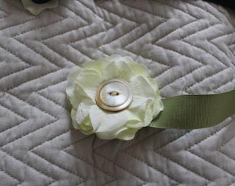 Bright handmade flower ribbon belt