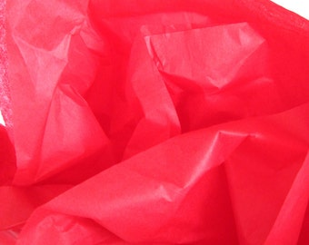 Cherry Red Tissue Paper, 24 Sheets 20 x 30 in. / 50.8 x 76 cm