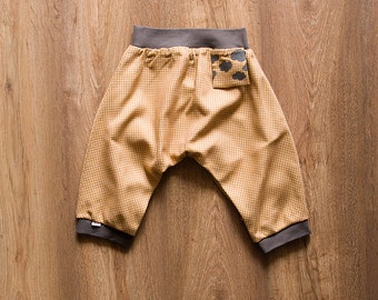 Wide dicing Brown Baby pants