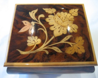Vintage Reuge Inlaid Music Box Plays The Emperor Waltz