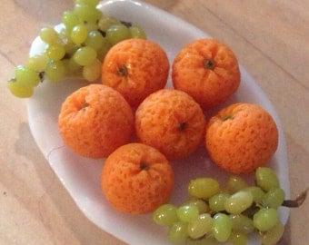 Dollhouse Miniature Food - Miniature polymer clay oranges